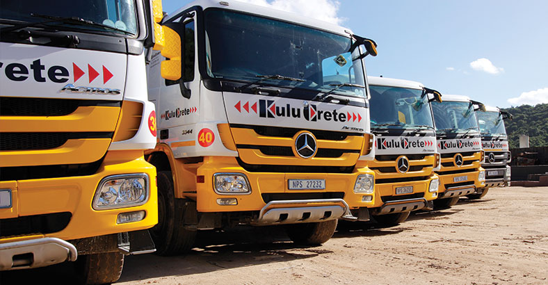 KuluCrete KZN South Coast and Eastern Cape supplier of volume bricks, blocks, stone, sand, crusher. Own delivery fleet.